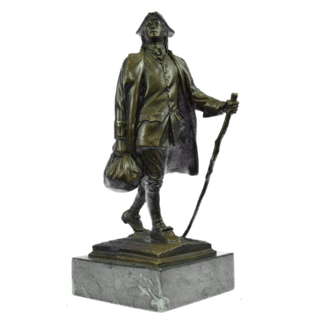 Benjamin Franklin Bronze Sculpture - Image 2 of 9