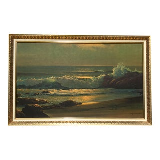 """""""The Golden Surf"""" Seascape Painting"""