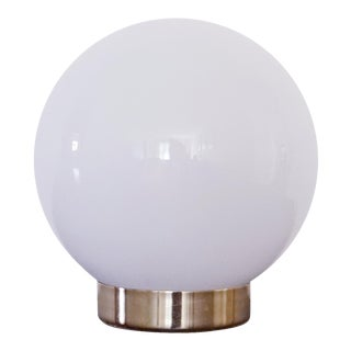 1970s Mid-Century Modern Glass Orb Lamp For Sale