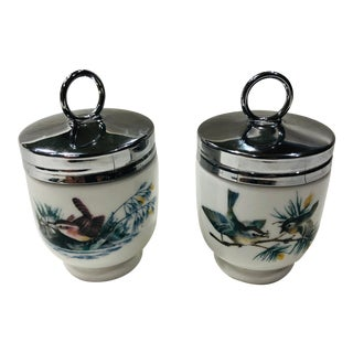 1940's English Royal Worcester Porcelain Egg Coddlers Boxed - a Pair For Sale