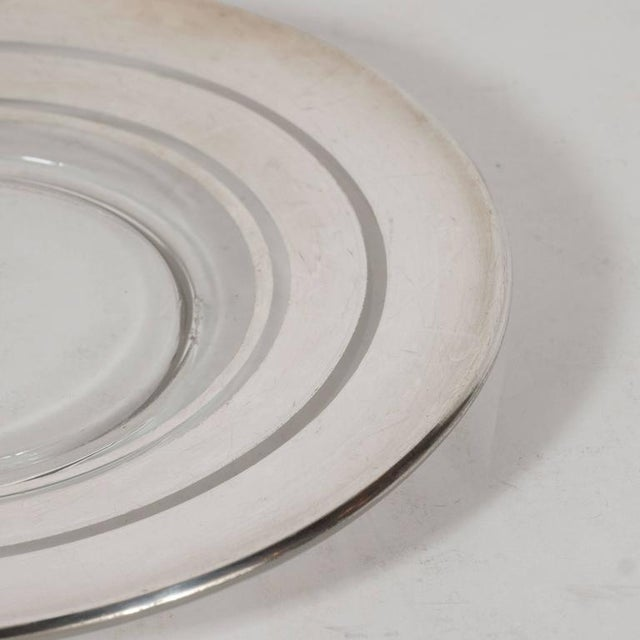 Dorothy Thorpe Six Art Deco Sterling Silver Overlaid Hors D'Oeuvres Plates by Dorothy Thorpe For Sale - Image 4 of 5