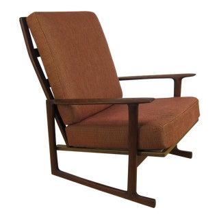 Ib Kofod Larsen for Selig Mid Century Walnut High Back Lounge Chair