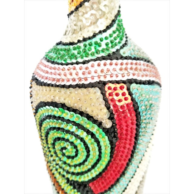 ad1e12da550e0 Vintage Haitian Voodoo Beaded Sequin Bottle For Sale In Miami - Image 6 of  13