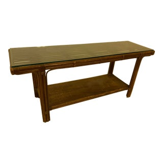 Bamboo Sofa Table/Console For Sale