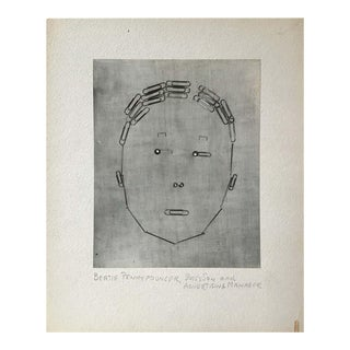 1950s Laurence Tilley Paper Clip Face Photograph For Sale