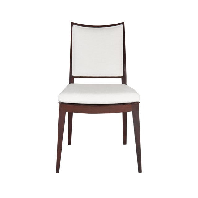 """Solid Mahogany frame back dining chair. Seat Height-19"""" Seat Depth -17.5"""" COM requirements: 2 yards 5% up-charge for..."""