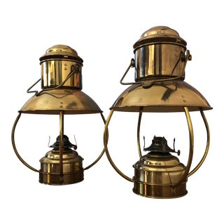 Den Haan Rotterdam Oil Lanterns - A Pair