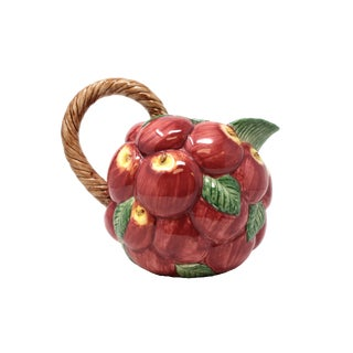 Fitz & Floyd Ceramic Apple Pitcher