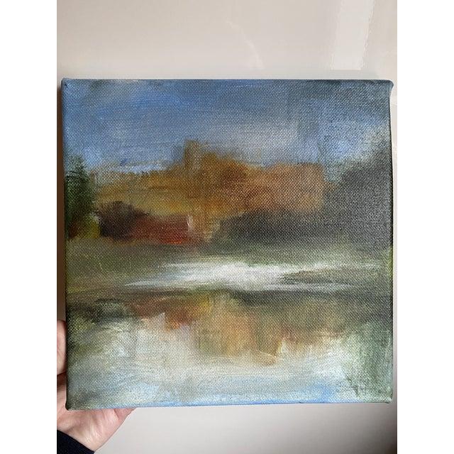 Original Riverscape Painting by Belgian Artist Sylvie Van Hulle For Sale - Image 4 of 4