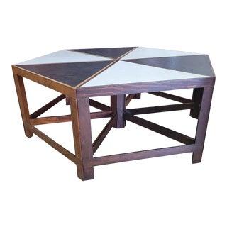 6 Piece Hexagonal Coffee Table For Sale