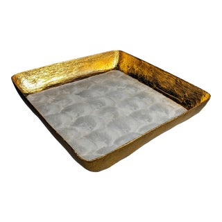 Capiz Mother of Pearl and Gold Leaf Tray For Sale