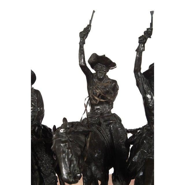 "F. Remington ""Coming Through the Rye"" Bronze Sculpture - Image 6 of 11"
