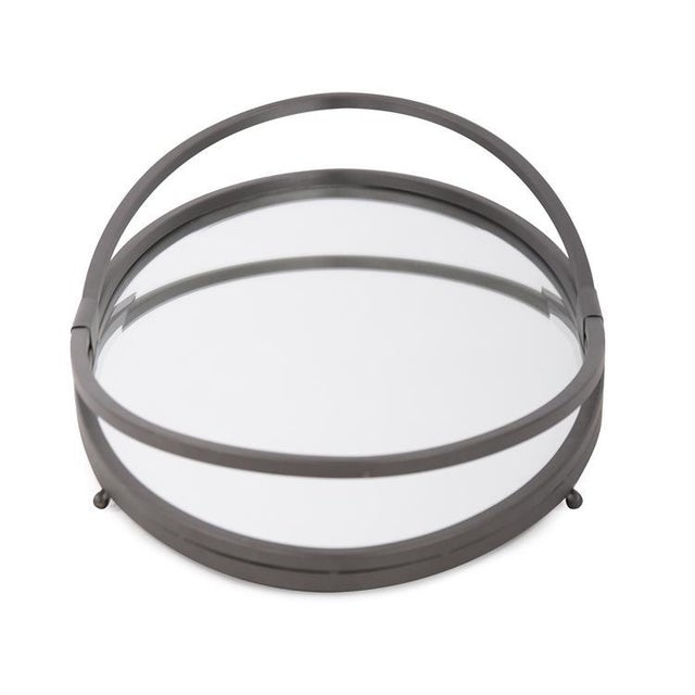 Contemporary Kenneth Ludwig Oval Iron Tray For Sale - Image 3 of 6