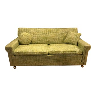 1960s Vintage Mid-Century Modern Pull Out Sofa For Sale