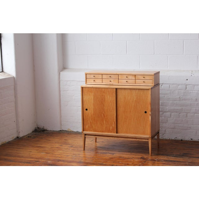 Restored 1950s Mid-Century Modern Paul McCobb Planner Group Mini Credenza Cabinet For Sale - Image 13 of 13