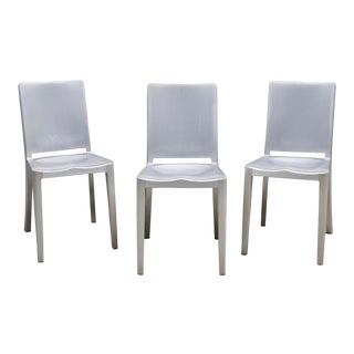 Emeco Hudson Chairs by Philippe Starck - Set of 3 For Sale