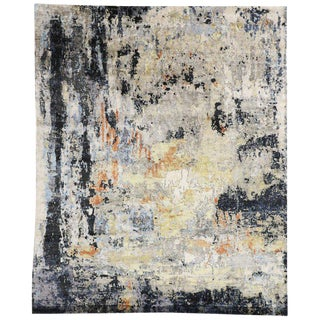 Contemporary Area Rug With Modern Expressionist and Grunge Art Style - 9′11″ × 81′6″ For Sale