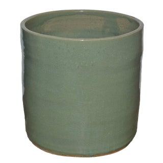"""Artisan Series Glazed Terra Cotta Planter """"Mente"""" For Sale"""