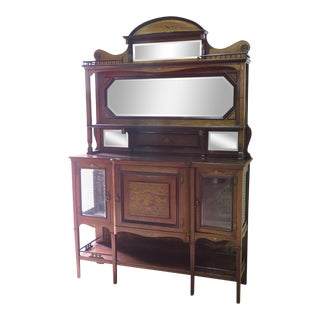 Edwardian Style Inlaid Sideboard With Superstructure