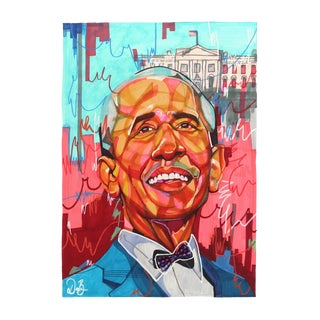 """Barrack Obama"" Original Artwork by Domonique Brown For Sale"