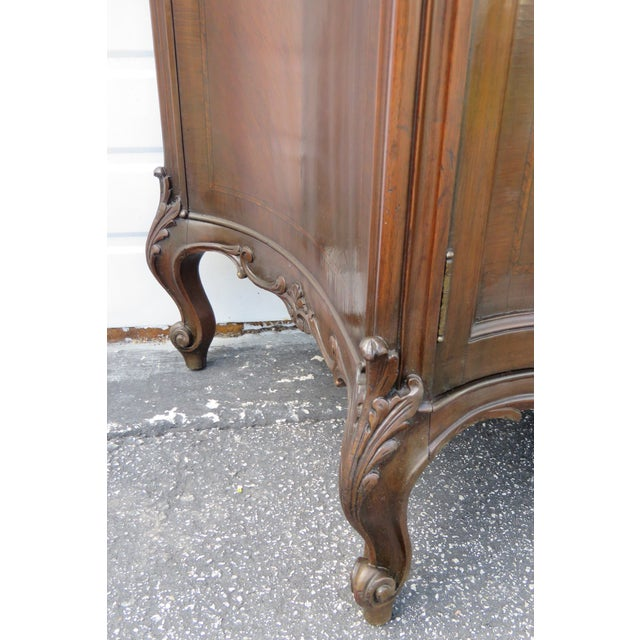 French French Early 1900s Marble Top Commode Server Buffet Bathroom Vanity For Sale - Image 3 of 13
