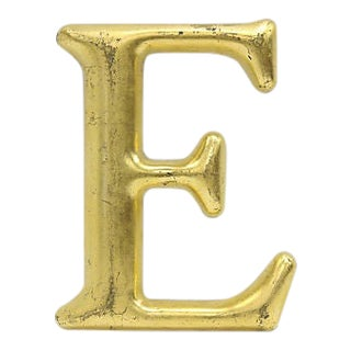 "Vintage Gilded English Pub Sign Letter "" E "" For Sale"