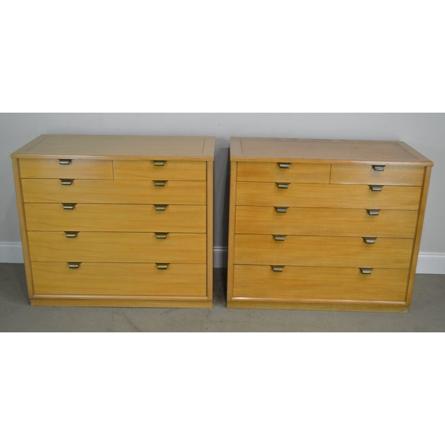 Traditional Edward Wormley for Drexel Precedent Pair Mid Century Modern Chests For Sale - Image 3 of 13