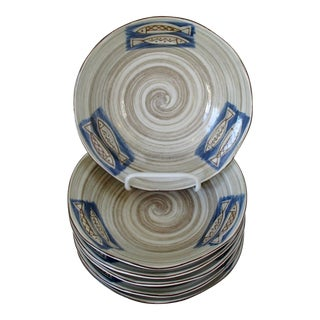 Japanese Artisan Bowls, Set of 6 For Sale