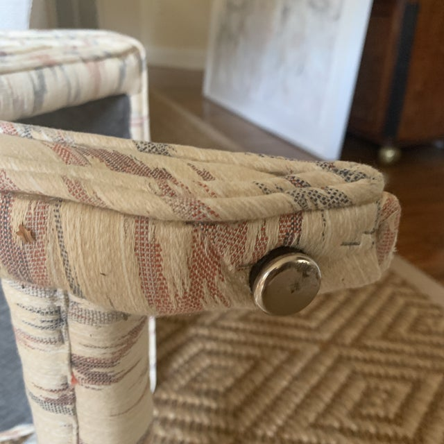 Textile Vintage Weiman Upholstered X Bench For Sale - Image 7 of 13