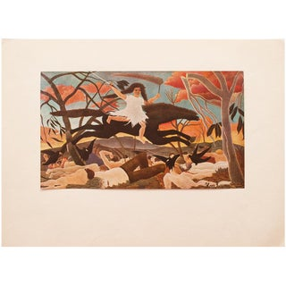 "1940s H. Rousseau, Original ""War"" Swiss Lithograph For Sale"
