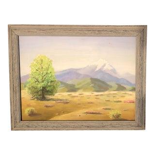 Desert Mountain Landscape Painting For Sale