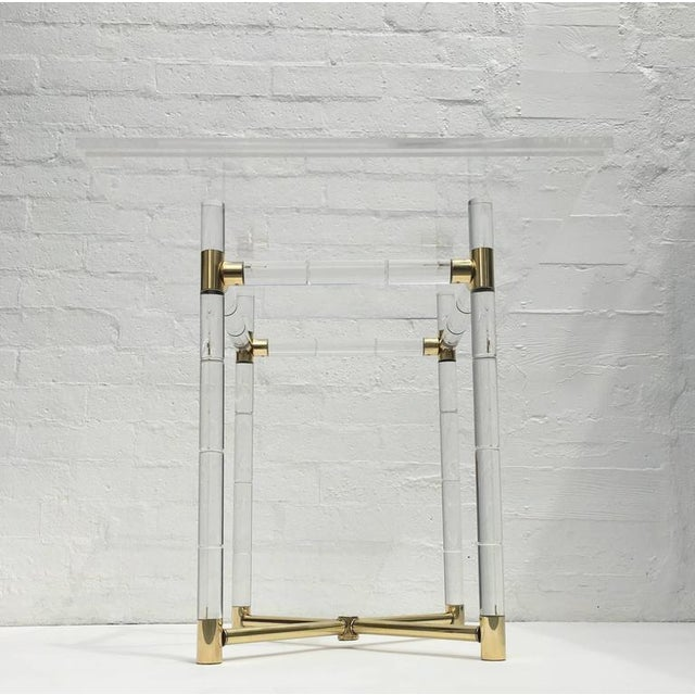 Polished Brass and Faux Bamboo Center Table by Charles Hollis Jones - Image 7 of 10