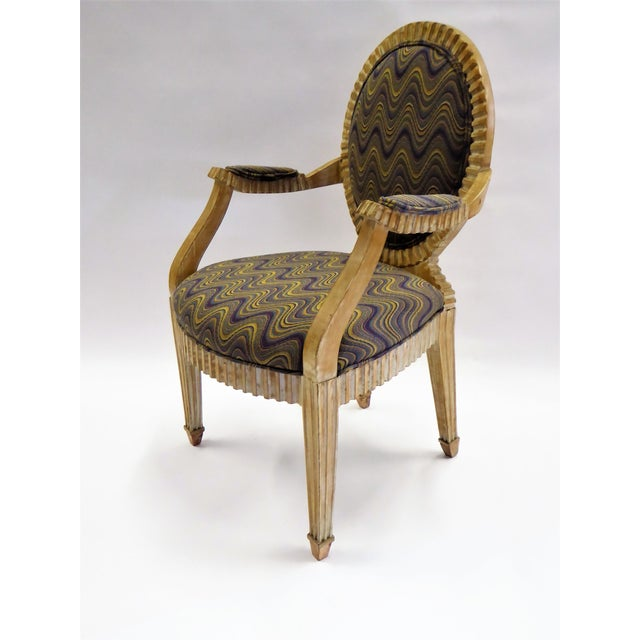 Modern Adaption of Louis XIV Roi Soleil Bergere Armchair , C. 1980s For Sale - Image 12 of 12
