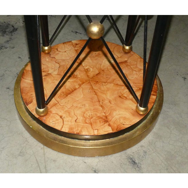 Art Deco Glass Top Center Table, Accent Table, or Dining Table For Sale - Image 4 of 7