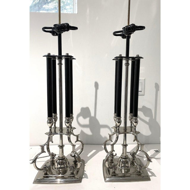 Mid 20th Century Mid-Century Modern Tommi Parzinger for Stiffel Table Lamps - a Pair For Sale - Image 5 of 12