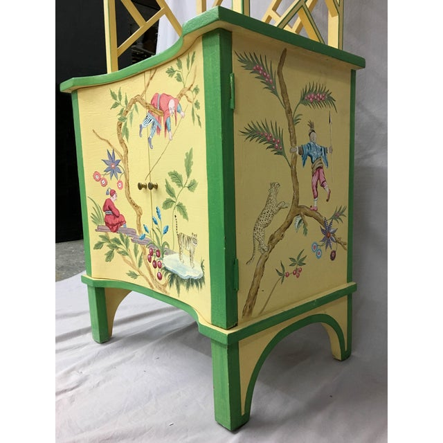 Chinese Style Painted Shelf For Sale - Image 10 of 11