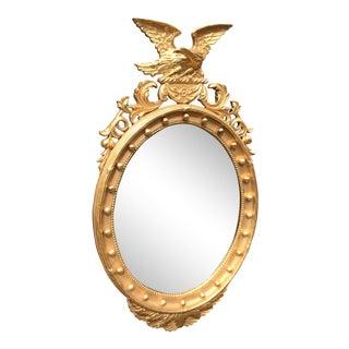 1960s Vintage Regency Girandole Federal Eagle Mirror For Sale