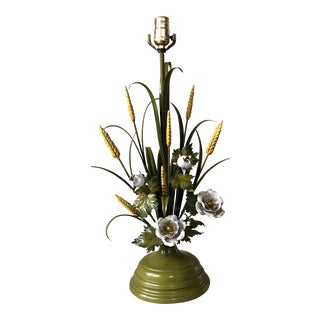 Italian Green Tole Lamp
