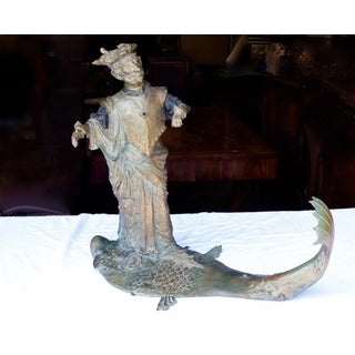 Mid Century Bronze of Man on Fish Preview