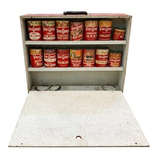 Early Mid Century Salesman Sample Case -Van Camps Canned Foods - Warhol-Esque Style Art For Sale