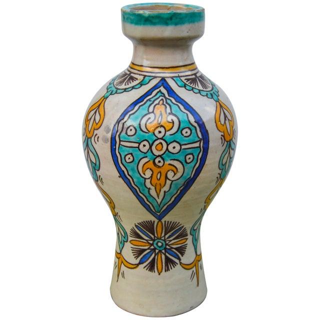 Islamic Moorish Ceramic Vase For Sale - Image 3 of 9