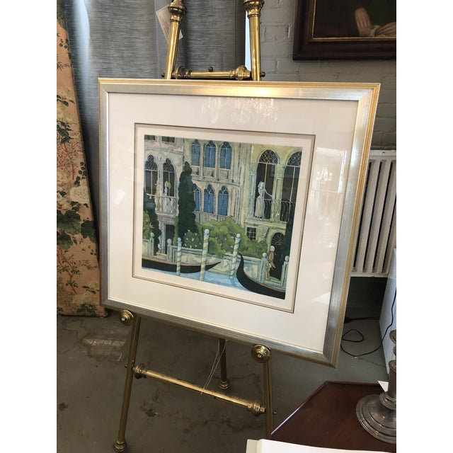 """Vintage 1981 Thomas McKnight Etching Titled """"Venetian Idyll"""". Pencil signed and numbered 99/100 by the artist. Framed in a..."""