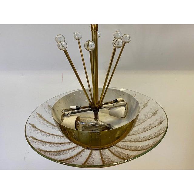 1960s Vintage Brass Sputnik Style Chandelier For Sale - Image 5 of 13