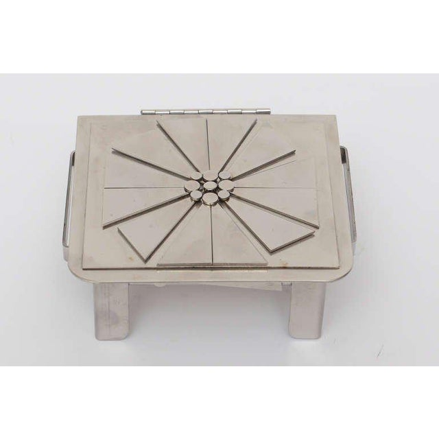 Modern Stanley Szwarc Sculptural Stainless Steel Hinged Box For Sale - Image 3 of 11