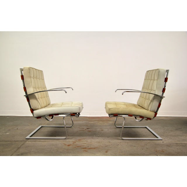 Mies Van der Rohe Mies Van Der Rohe and Lilly Reich Tugendhat Chairs - a Pair For Sale - Image 4 of 13