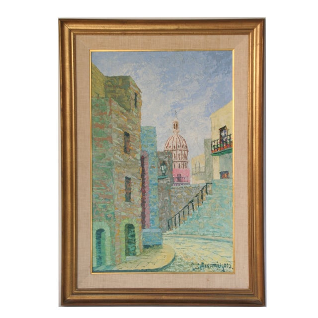 Oil Painting of European City - Image 7 of 7