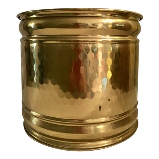 Hammered Brass Waste Basket