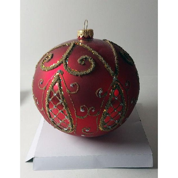 Red and Gold Hand Made Polish Tree Ornament - Image 2 of 6