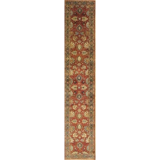 """Tabriz Hand-Knotted Runner Rug - 2'6"""" X 13'7"""" For Sale"""