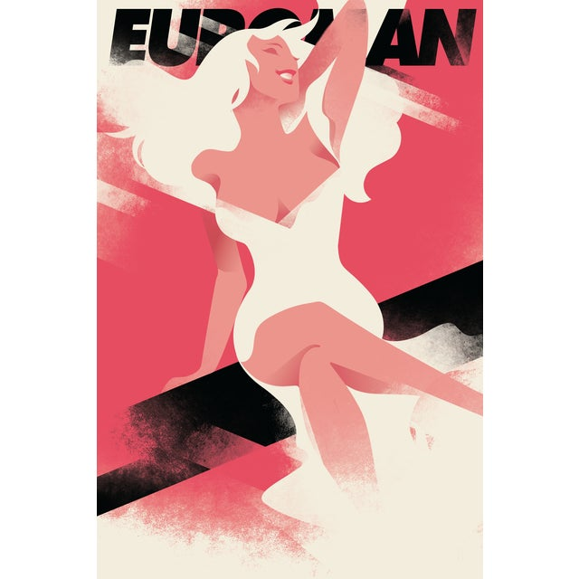 Mads Berg 'Euroman' Retro Deco Danish Poster - Image 2 of 2